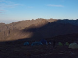 Sun coming up over kili behind me