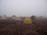 Baranco camp and my tent