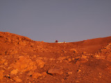 Mars. Coming down from the top