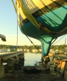 In The Slings - J.O. Brown Boat Yard