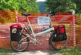 061  Don - Touring Pennsylvania USA - Bike Friday, New World Tourist touring bike