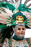 Español dancer in green and white
