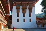 Inside courtyard Phunakha Dzong