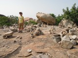 Piled rocks are auspicious