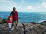 With Nanu on the Koh Samui shore