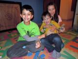 With visiting pals Ayaka and Ties