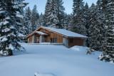 destination hut at glacier point