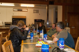 hut dinner table