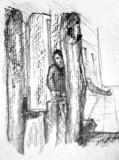 Street boy sketch