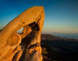 Leo rock-climbing at Corral Canyon