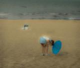 Blue umbrella Sopot