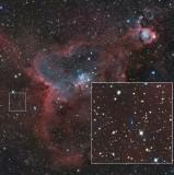 IC 1805 and WeBo 1 (PN G135.6+01.0)