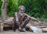 The elderly Yakel chief of Louinio Nambas Kastom Village, Tanna