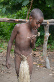 Yakel boy with a pipe, Tanna
