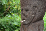 Yakel village idol with pipe, Tanna