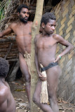 Yakel men wearing mambas, Tanna