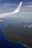 Descent for Santo over northern Malekula