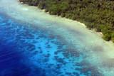 Amazing blue water off Tutuba, Vanuatu