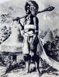Old engraving of a warrior - Tavuni