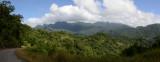 Panoramic view of the landscape of southern Viti Levu, Fiji