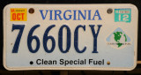 Virginia License Plate - Clean Special Fuel