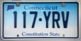 Connecticut License Plate