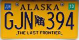 Alaska License Plate