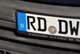 German License Plate - Kreis Rendsburg-Eckernförde