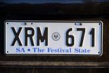 SA The Festival State license plate