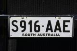 South Australia license plate