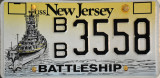Battleship New Jersey License Plate