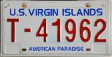 US Virgin Island License Plate