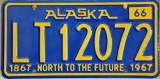 1967 Alaska License Plate