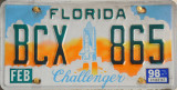 Florida License Plate - Challenger