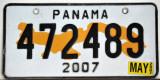 Panama License Plate