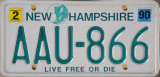 New Hampshire License Plate
