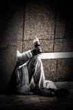 Man holding bottle