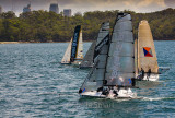 18 footers on Sydney Harbour