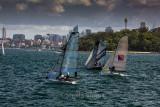18 foot skiff race on Sydney Harbour