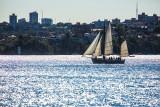 Ketch on Sydney Harbour