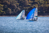 Skiff race on Sydney Harbour