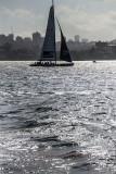 Large yacht on Sydney Harbour
