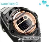 CASIO BABY-G DIGITAL 200M BG-169G BG-169G-1D GROSS BLACK ROSE GOLD FACE 100% AUTHENTIC with BOX