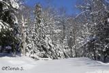 El parque Omega con mucha nieve