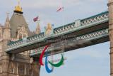 London 2012 Olympics - Paralympic Logo on Tower Bridge