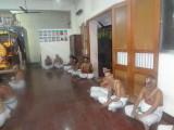 MA Madhu swami looking at us, Dr Madapoosi Varadrjan swami nearest to us,and ramanujan swmai looking up