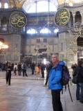 Brian inside Hagia Sophia