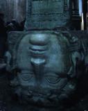 Roman cisterns medusa columns istanbul
