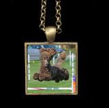 Evans necklace - brushed bronze