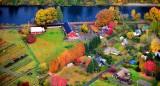 Autumn Colors Along Snoqualmie River Valley, Fall City, Washington